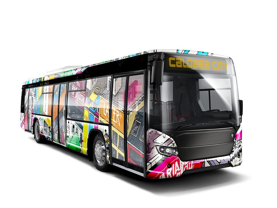 Vehicle wrapped with CalderaRIP software, digital printed vinyl