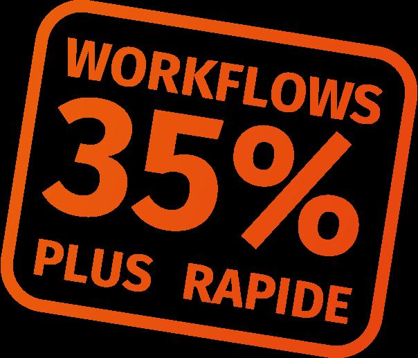 workflows 35% plus rapide avec CalderaRIP V14