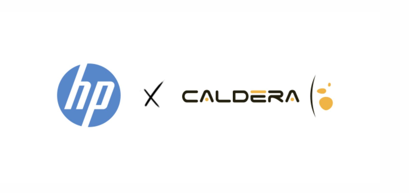 caldera logo hp logo