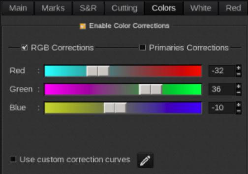 Color correction in CalderaRIP software