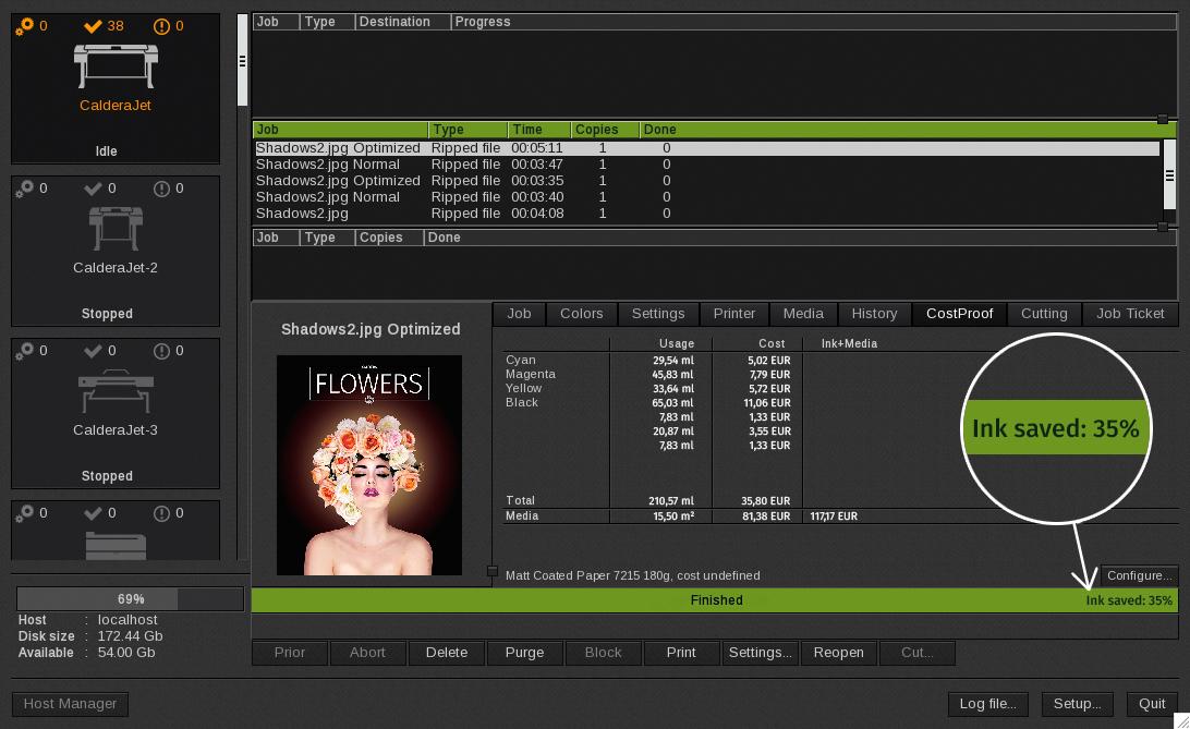 Caldera InkPerformer screenshoot