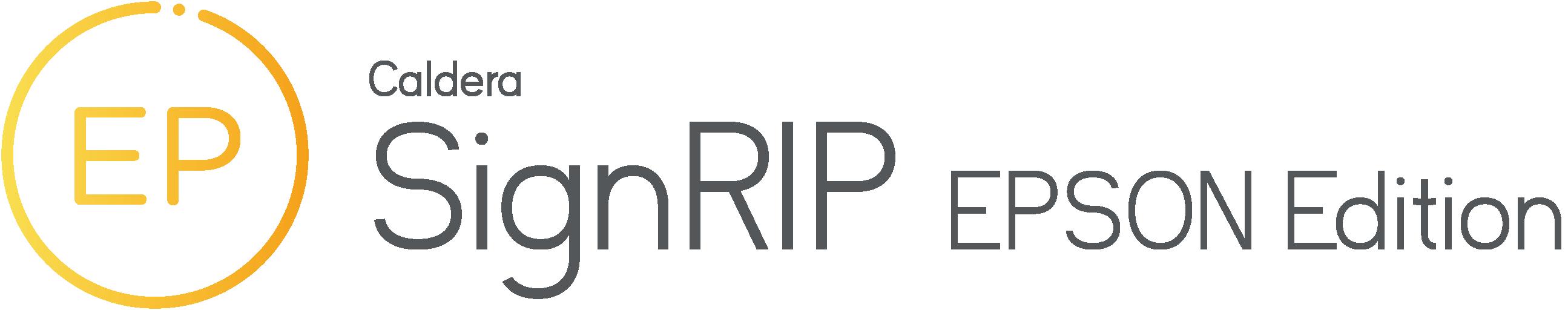 Caldera SignRIP EPSON Edition Logo