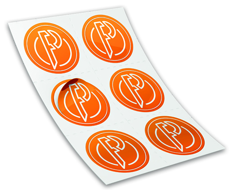 Caldera PrimeCenter Orange Stickers