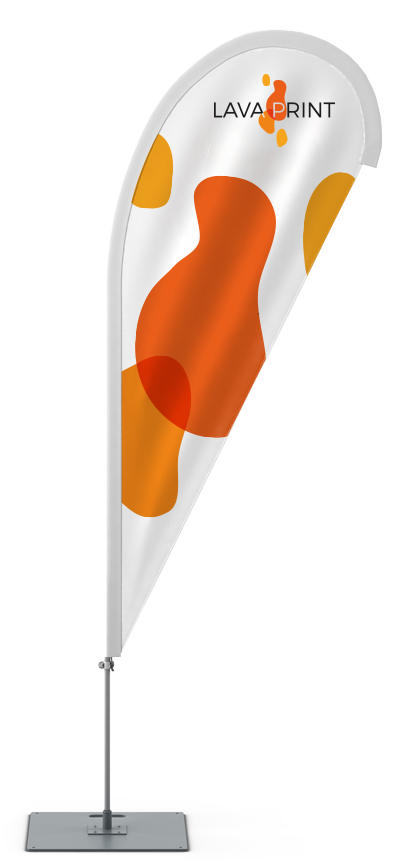 orange and white beachflag lava print