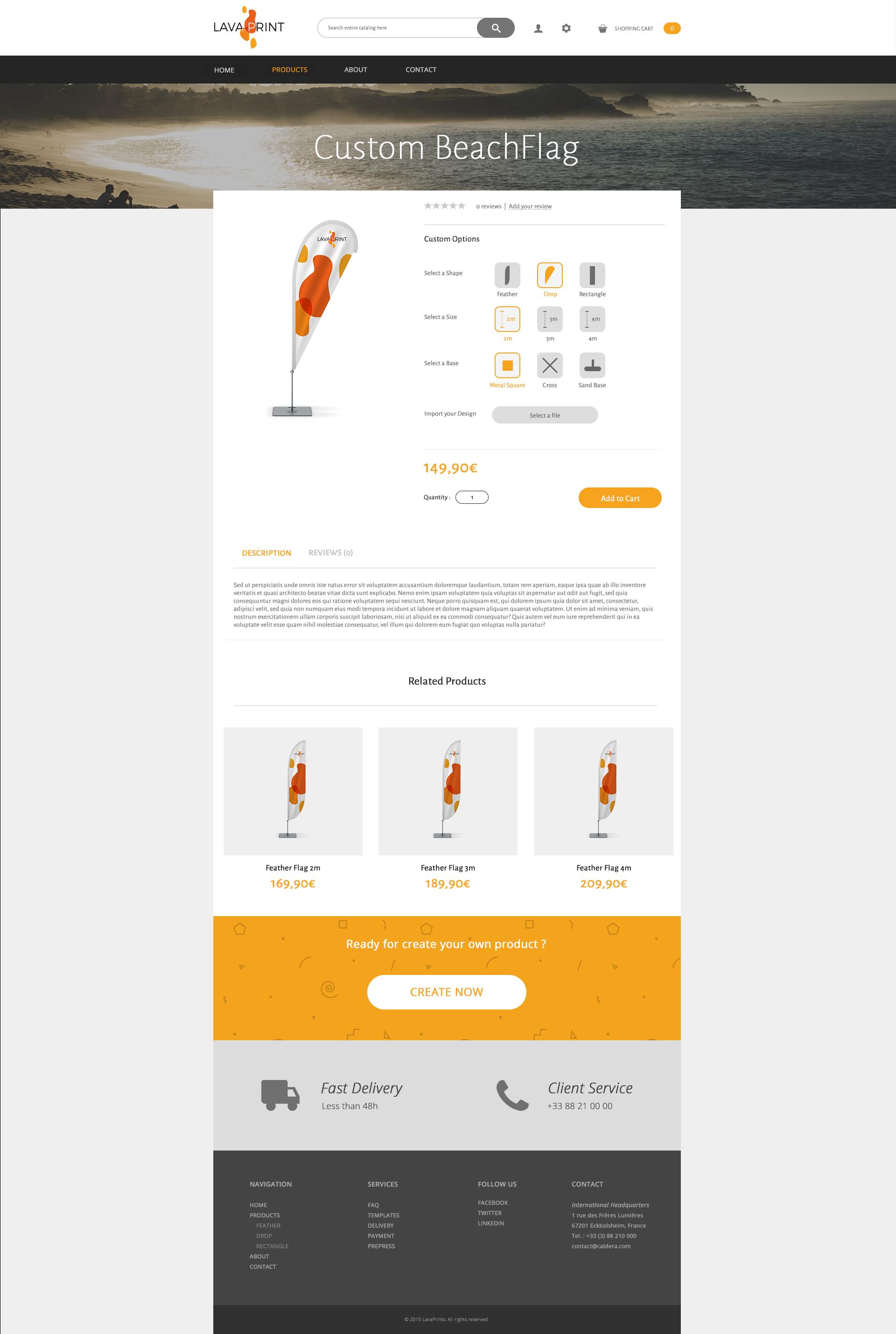 WebShop product custom
