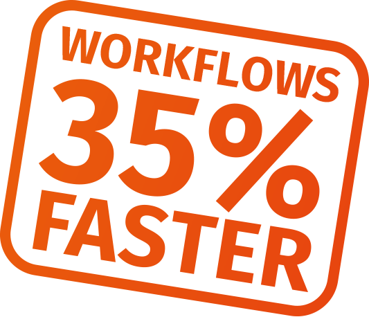 Workflows 35% faster with CalderaRIP V14