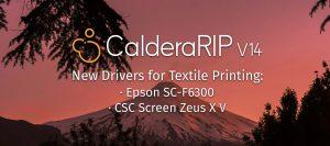 Textile drivers CalderaRIP