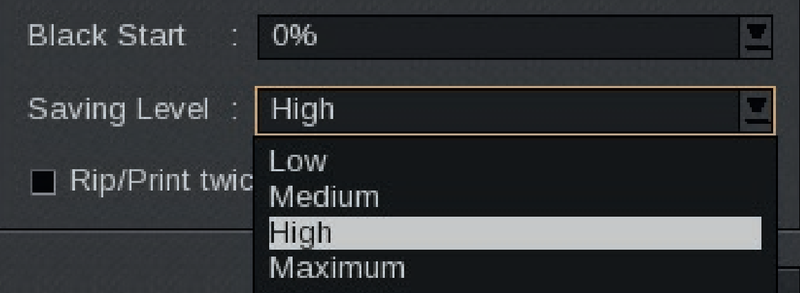 InkPerformer saving levels